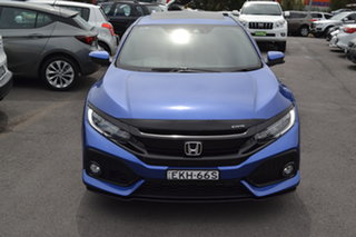 2017 Honda Civic 10th Gen MY17 VTi-LX Brilliant Blue 1 Speed Constant Variable Hatchback.