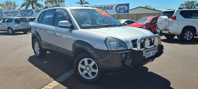 Used Hyundai Tucson JM Elite East Bunbury, 2005 Hyundai Tucson JM Elite Silver 4 Speed Sports Automatic Wagon