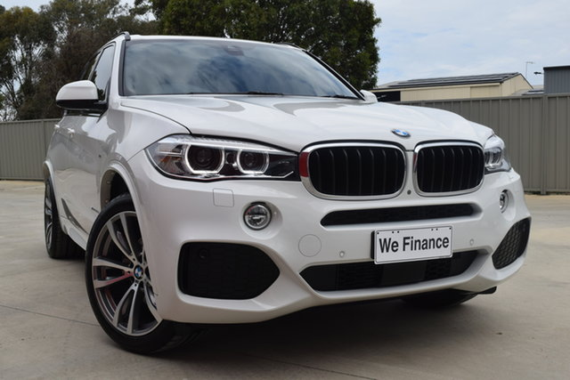 Used BMW X5 F15 xDrive30d Echuca, 2017 BMW X5 F15 xDrive30d White 8 Speed Sports Automatic Wagon