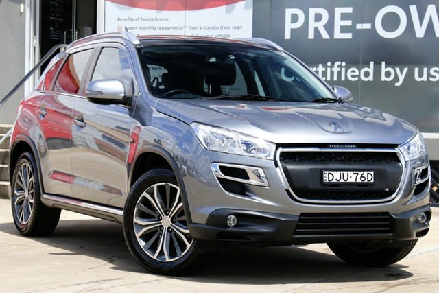 Used Peugeot 4008 MY15 Active (4x2) Guildford, 2015 Peugeot 4008 MY15 Active (4x2) Silver 6 Speed CVT Auto Sequential Wagon
