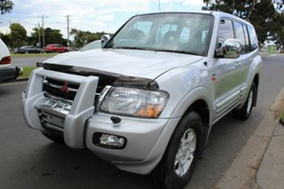 2000 Mitsubishi Pajero NM Exceed Silver 5 Speed Sports Automatic Wagon.