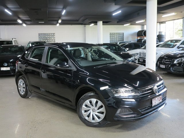 Used Volkswagen Polo AW MY19 70TSI DSG Trendline Albion, 2018 Volkswagen Polo AW MY19 70TSI DSG Trendline Black 7 Speed Sports Automatic Dual Clutch
