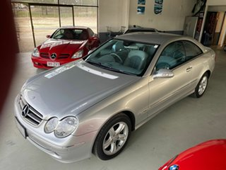 2003 Mercedes-Benz CLK320 C209 Avantgarde Silver 5 Speed Auto Touchshift Coupe.