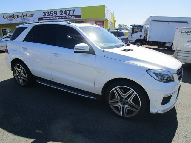 Used Mercedes-Benz M-Class W166 ML63 AMG SPEEDSHIFT DCT, 2012 Mercedes-Benz M-Class W166 ML63 AMG SPEEDSHIFT DCT White 7 Speed Sports Automatic Dual Clutch