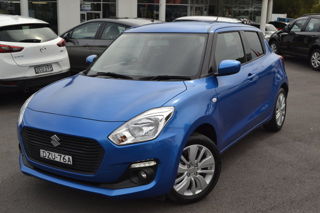 Used Suzuki Swift AZ GL Navigator Maitland, 2017 Suzuki Swift AZ GL Navigator Speedy Blue 1 Speed Constant Variable Hatchback