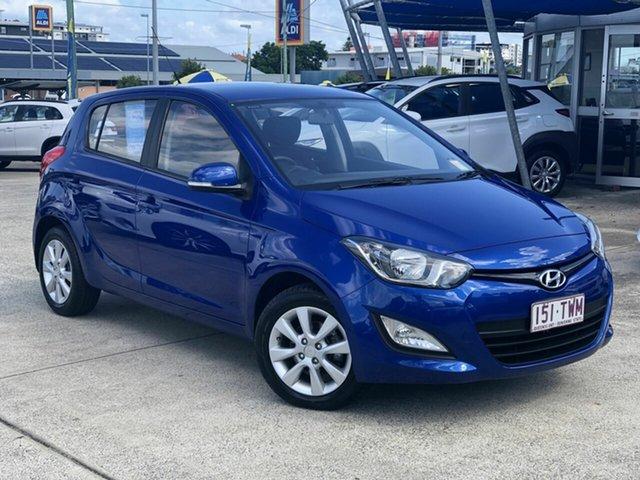 Used Hyundai i20 PB MY15 Elite Chermside, 2014 Hyundai i20 PB MY15 Elite Blue 4 Speed Automatic Hatchback