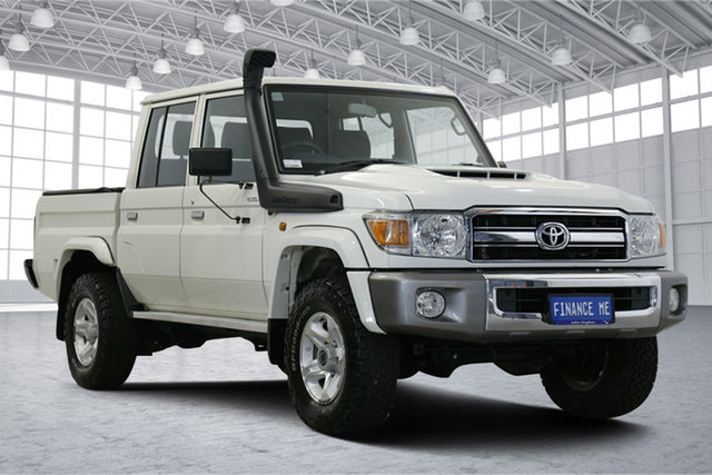 Used Toyota Landcruiser VDJ79R GXL Double Cab Victoria Park, 2016 Toyota Landcruiser VDJ79R GXL Double Cab White 5 Speed Manual Cab Chassis