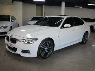 2016 BMW 3 Series F30 LCI 330i M Sport White 8 Speed Sports Automatic Sedan.