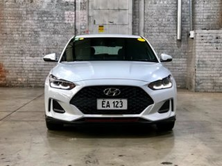 2019 Hyundai Veloster JS MY20 Turbo Coupe White 6 Speed Manual Hatchback.