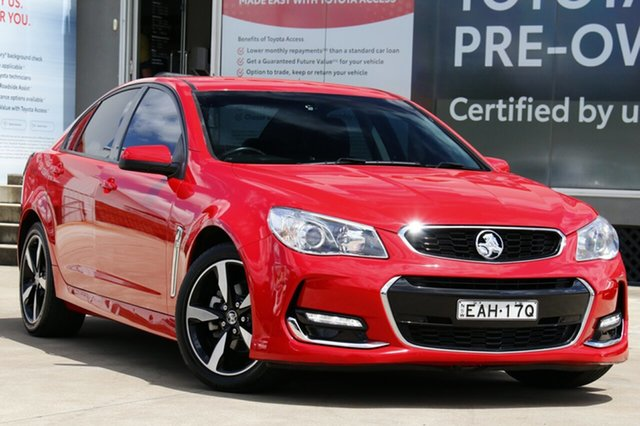 Used Holden Commodore VF II MY17 SV6 Guildford, 2017 Holden Commodore VF II MY17 SV6 Red 6 Speed Automatic Sedan