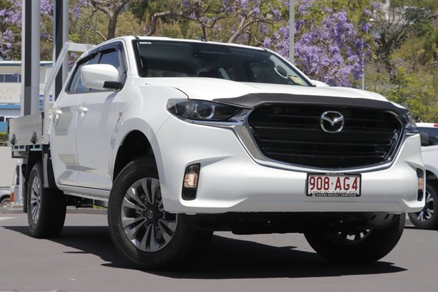 Demo Mazda BT-50 TFS40J XT Newstead, 2020 Mazda BT-50 TFS40J XT Ice White 6 Speed Sports Automatic Cab Chassis