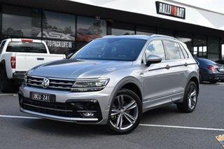 2019 Volkswagen Tiguan 5N MY19.5 132TSI DSG 4MOTION R-Line Edition Silver 7 Speed.