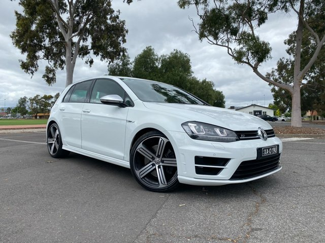 Used Volkswagen Golf VII MY14 R DSG 4MOTION Nailsworth, 2013 Volkswagen Golf VII MY14 R DSG 4MOTION White 6 Speed Sports Automatic Dual Clutch Hatchback