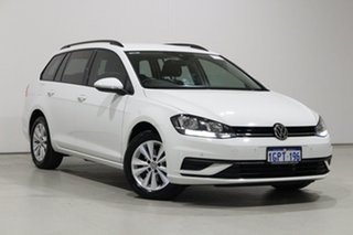 2018 Volkswagen Golf AU MY18 110 TSI Trendline White 7 Speed Auto Direct Shift Wagon.