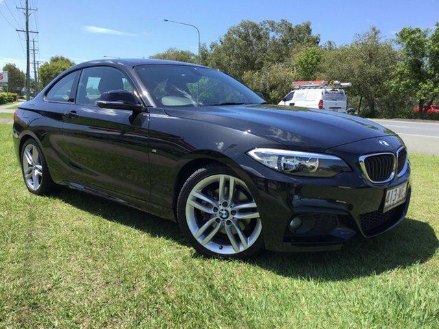 Used BMW 2 Series F22 220i Sport Line Caloundra, 2015 BMW 2 Series F22 220i Sport Line Black 8 Speed Sports Automatic Coupe