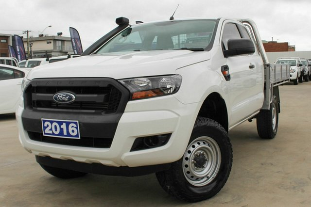 Used Ford Ranger PX MkII XL Coburg North, 2016 Ford Ranger PX MkII XL White 6 Speed Manual Cab Chassis