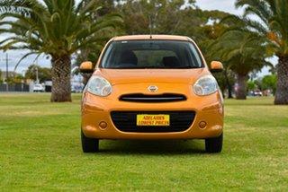 2011 Nissan Micra K13 ST Orange 4 Speed Automatic Hatchback.