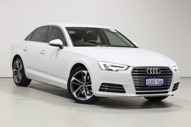 Used Audi A4 F4 MY17 (B9) 2.0 TFSI S Tronic Sport Bentley, 2017 Audi A4 F4 MY17 (B9) 2.0 TFSI S Tronic Sport White 7 Speed Auto Dual Clutch Sedan