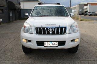 2007 Toyota Landcruiser Prado GRJ120R MY07 GXL (4x4) White 5 Speed Automatic Wagon.