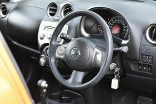 2011 Nissan Micra K13 ST Orange 4 Speed Automatic Hatchback