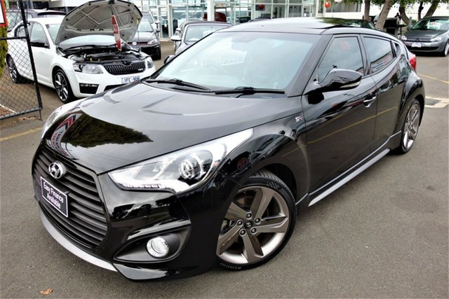Used Hyundai Veloster FS3 SR Coupe Turbo Seaford, 2014 Hyundai Veloster FS3 SR Coupe Turbo Black 6 Speed Sports Automatic Hatchback