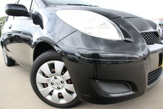 2011 Toyota Yaris NCP131R YRS Black 4 Speed Automatic Hatchback.
