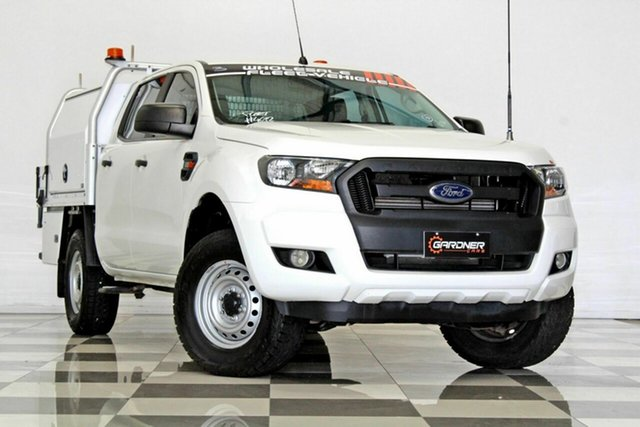 Used Ford Ranger PX MkII MY17 XL 2.2 Hi-Rider (4x2) Burleigh Heads, 2016 Ford Ranger PX MkII MY17 XL 2.2 Hi-Rider (4x2) White 6 Speed Automatic Crew Cab Chassis