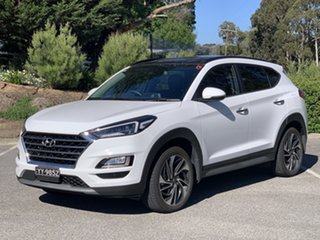 2019 Hyundai Tucson TL3 MY20 Highlander AWD Pure White 8 Speed Sports Automatic Wagon.