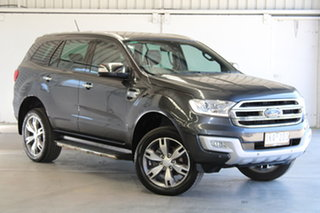 2017 Ford Everest UA Titanium Blue 6 Speed Automatic SUV.