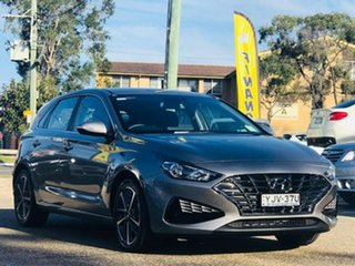 2020 Hyundai i30 PD.V4 MY21 Elite Grey 6 Speed Sports Automatic Hatchback