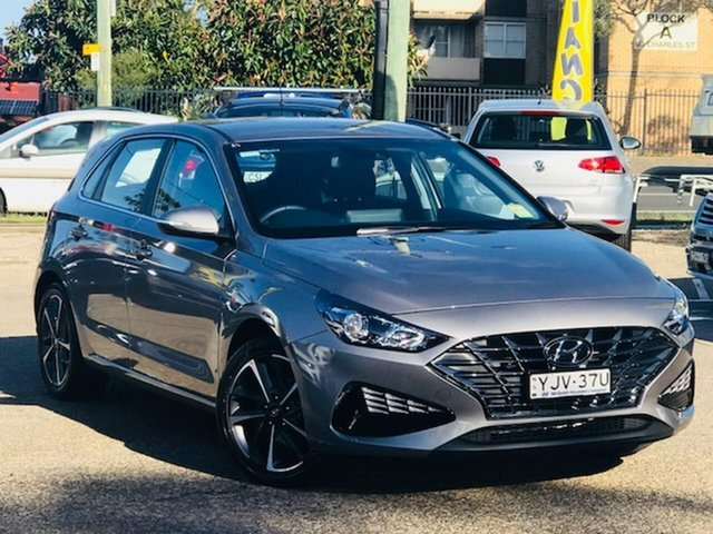 Used Hyundai i30 PD.V4 MY21 Elite Liverpool, 2020 Hyundai i30 PD.V4 MY21 Elite Grey 6 Speed Sports Automatic Hatchback