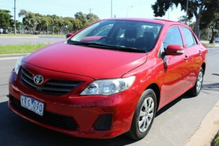 2011 Toyota Corolla ZRE152R MY11 Ascent Red 4 Speed Automatic Sedan.