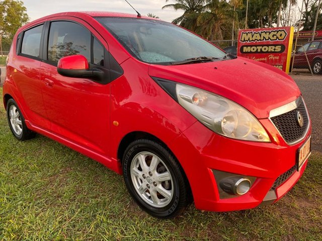 Used Holden Barina Spark MJ MY11 CD Pinelands, 2011 Holden Barina Spark MJ MY11 CD Red 5 Speed Manual Hatchback