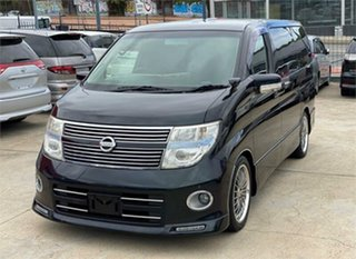 2008 Nissan Elgrand E51 Highwaystar Black Automatic Wagon.