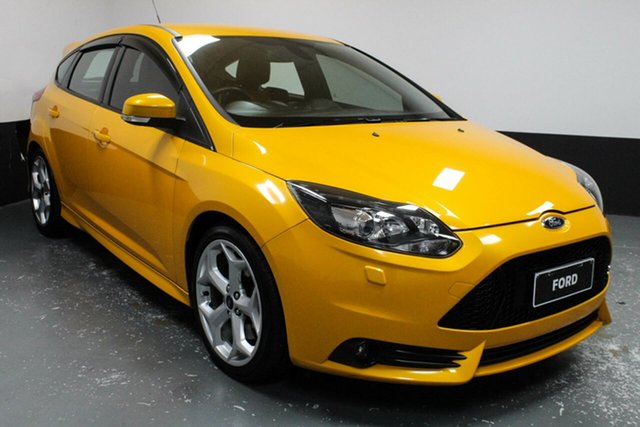 Used Ford Focus LW MkII ST Hamilton, 2013 Ford Focus LW MkII ST Yellow 6 Speed Manual Hatchback