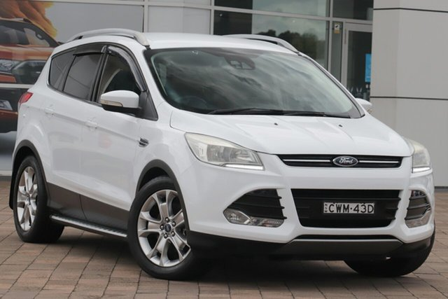 Used Ford Kuga TF Trend AWD Warwick Farm, 2014 Ford Kuga TF Trend AWD White 6 Speed Sports Automatic SUV