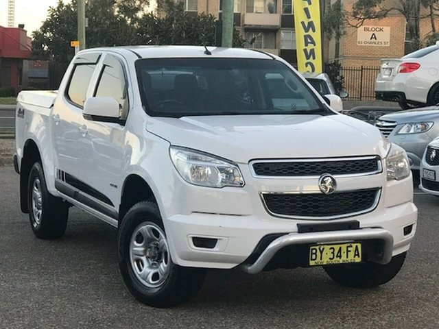 Used Holden Colorado RG MY14 LX Crew Cab 4x2 Liverpool, 2014 Holden Colorado RG MY14 LX Crew Cab 4x2 White 6 Speed Sports Automatic Utility