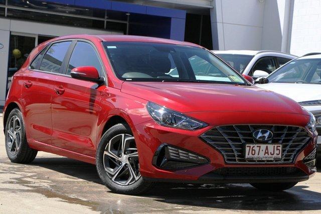 Demo Hyundai i30 PD.V4 MY21 Beaudesert, 2020 Hyundai i30 PD.V4 MY21 Fiery Red 6 Speed Sports Automatic Hatchback