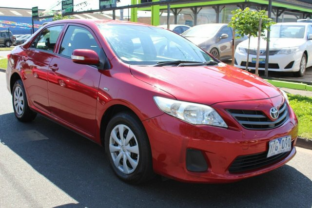 Used Toyota Corolla ZRE152R MY11 Ascent West Footscray, 2011 Toyota Corolla ZRE152R MY11 Ascent Red 4 Speed Automatic Sedan