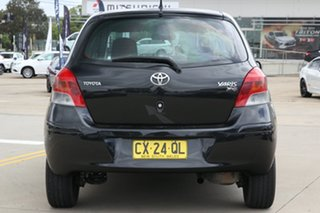 2011 Toyota Yaris NCP131R YRS Black 4 Speed Automatic Hatchback