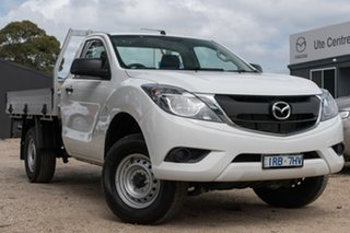 2017 Mazda BT-50 UR0YG1 XT 4x2 Hi-Rider White 6 Speed Manual Cab Chassis.