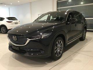 2019 Mazda CX-8 KG4W2A Asaki SKYACTIV-Drive i-ACTIV AWD Jet Black 6 Speed Sports Automatic Wagon