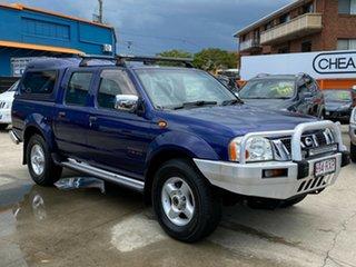 2005 Nissan Navara D22 S2 ST-R Blue 5 Speed Manual Utility.