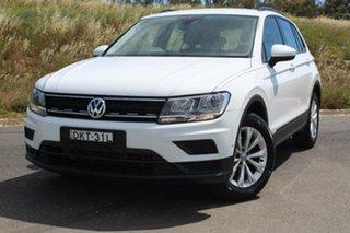 2016 Volkswagen Tiguan 5NA 110 TSI Trendline Pure White 6 Speed Direct Shift Wagon.