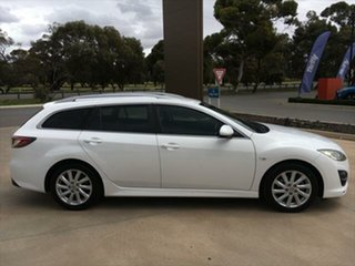 2011 Mazda 6 GH1052 MY10 Classic Crystal White Pearl 5 Speed Sports Automatic Wagon.