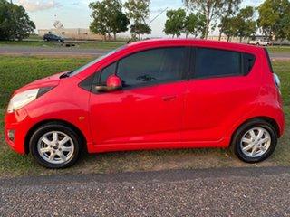 2011 Holden Barina Spark MJ MY11 CD Red 5 Speed Manual Hatchback.