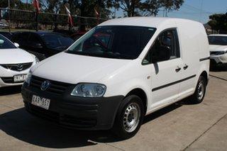 2009 Volkswagen Caddy 2K MY08 1.9 TDI White 6 Speed Direct Shift Van.
