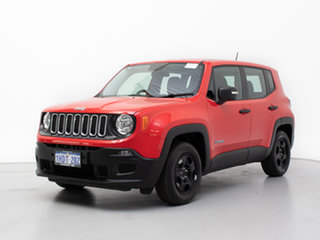 2016 Jeep Renegade BU Sport Red 5 Speed Manual Wagon.