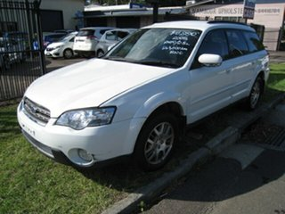 2005 Subaru Outback MY05 2.5i AWD White 4 Speed Auto Elec Sportshift Wagon.