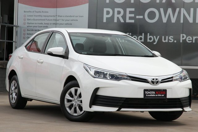 Pre-Owned Toyota Corolla ZRE172R Ascent S-CVT Guildford, 2019 Toyota Corolla ZRE172R Ascent S-CVT Glacier White 7 Speed Constant Variable Sedan